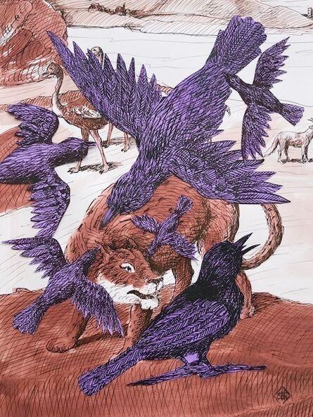 Sara Nesbitt, 'Crows and Lion', 2020