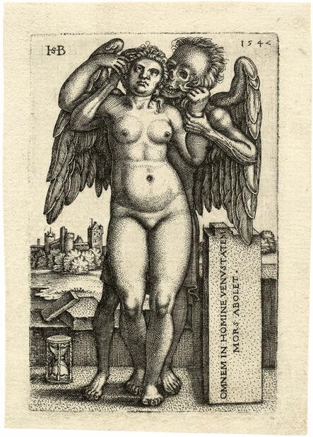 Hans Sebald Beham, 'Death and the Standing Nude Woman', 1542