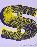 Andy Warhol, '(UNIQUE) Dollar Sign F&S.II.276', 1982