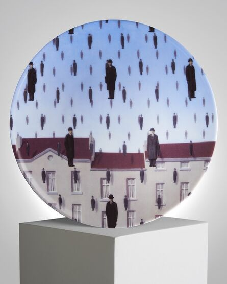 "René Magritte, '""Golconde"" Porcelain Plate', ca. 2011"
