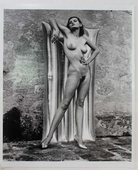 Helmut Newton, 'Nude with Plastic Matress', 1981