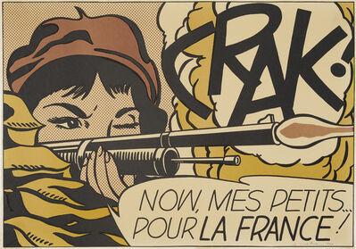 Roy Lichtenstein, 'CRAK!  (Cortlett 11.2a)'