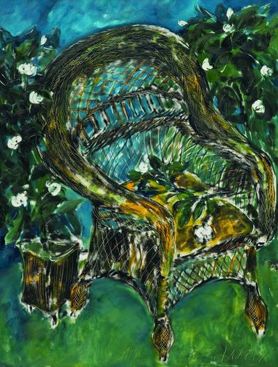 SRĐAN VUKČEVIĆ, 'A Chair with Gardenias', 1990