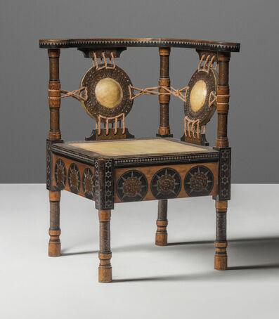 Carlo Bugatti, 'A corner chair', circa 1902
