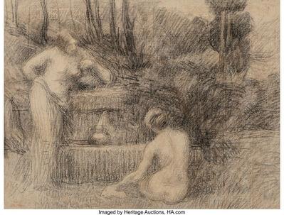 Hippolyte Petitjean, 'Baigneuses à la fontaine'