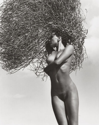 Herb Ritts, 'Neith with Tumbleweed, Paradise Cove (C)', 1986