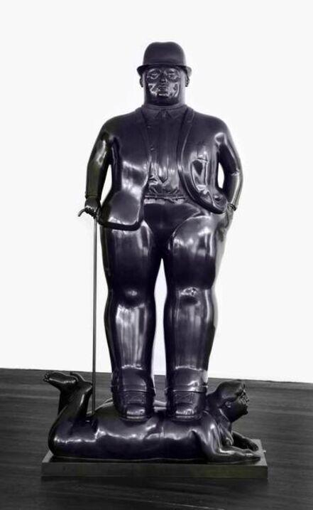Fernando Botero, 'Man With Cane ', 1988
