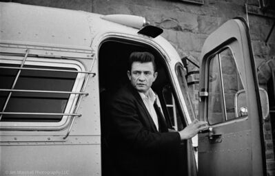 Jim Marshall, 'Johnny Cash coming off the bus at Folsom Prison', 1968