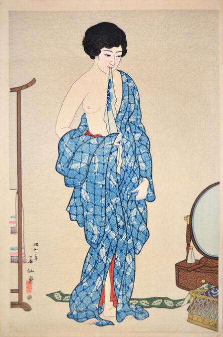Natori Shunsen, 'After a Bath', 1928
