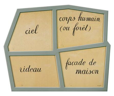 René Magritte, 'Le Masque Vide', 2010
