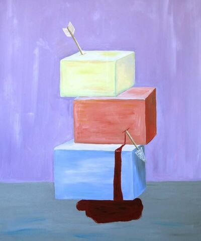 Joe Sola, 'cubes with arrow', 2015