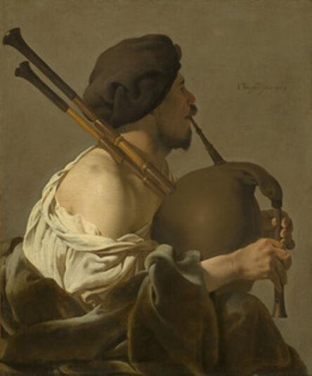 Hendrick ter Brugghen, 'Bagpipe Player', 1624