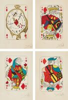 Salvador Dalí, 'Playing Cards: Ace of Diamonds; King of Diamonds; Queen of Diamonds; and Jack of Diamonds, from Playing-Cards', 1972