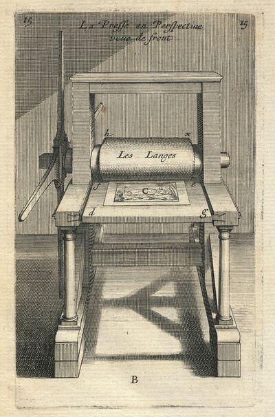 Abraham Bosse, 'La presse en perspective veue de front', 1645