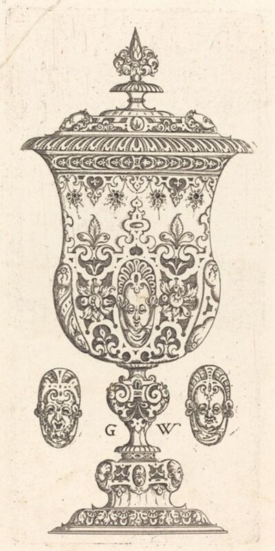 Georg Wechter I, 'Goblet with two Masques on lid', published 1579