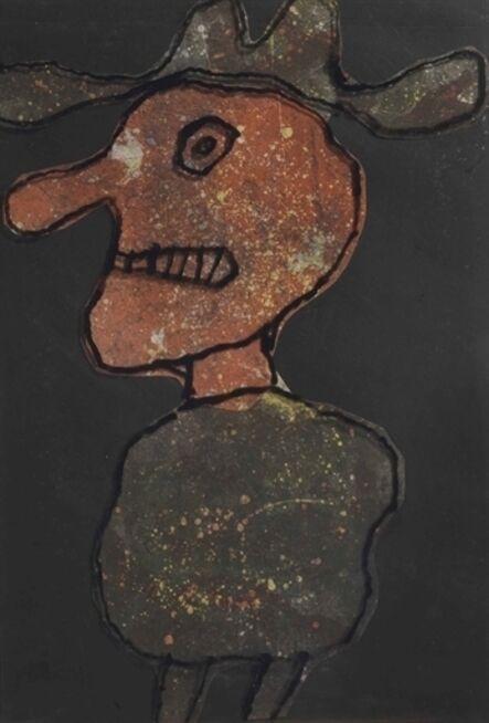 Jean Dubuffet, 'Maquette for Personnage au chapeau'