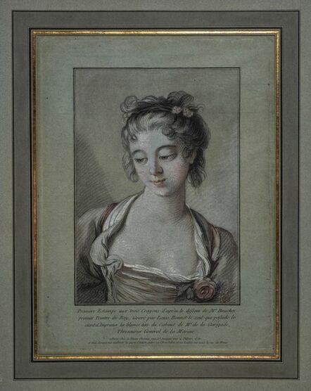 Louis-Marin Bonnet, 'Première tête, aux trois crayons, d'après Boucher', 1765-1767