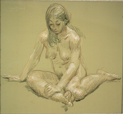 Paul Cadmus, 'Female Nude SSB', ca. 1970