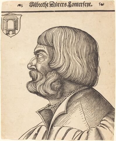 Erhard Schön, 'Albrecht Dürer at Age Fifty-Six', ca. 1528