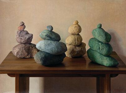 Claudio Bravo, 'Cuatro grupos de piedras / Four Stone Groups', 2011