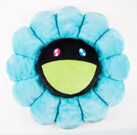 Takashi Murakami, 'Flower Cushion (Black and Blue)'