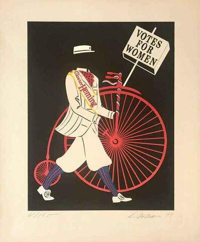 Robert Indiana, 'Costume: Glocester Heming, Votes for Women', 1966