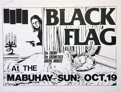 Raymond Pettibon, 'Raymond Pettibon illustrated Black Flag punk flyer (early Raymond Pettibon)', 1980