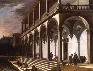 Viviano Codazzi, 'A View of the Villa Poggioreale, Naples', 1642-1643
