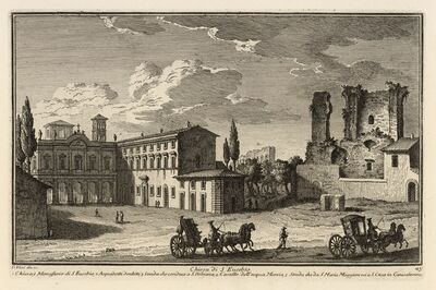 Giuseppe Vasi, 'Chiesa di S. Eusebio', 1747