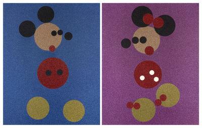 Damien Hirst, 'Minnie (Pink Glitter) & Mickey (Blue Glitter)', 2016