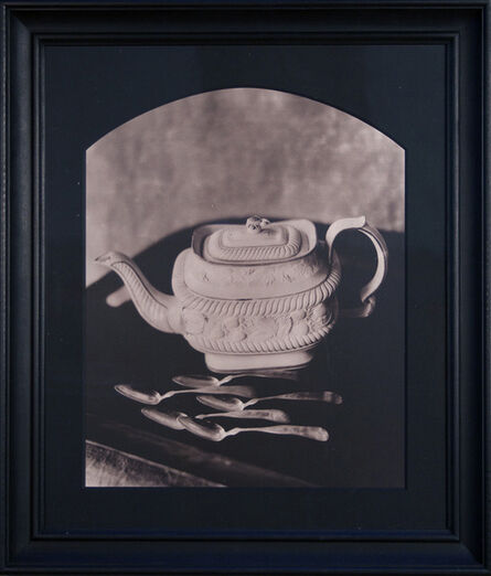 John Dugdale, 'Castleford Teapot with Five Coin Silver Teaspoons at Dawn, Stone Ridge, NY', 1990