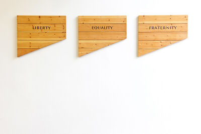 Ian Hamilton Finlay, 'Liberty Equality Fraternity', 1990