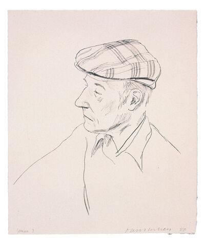 David Hockney, 'William Burroughs', 1981
