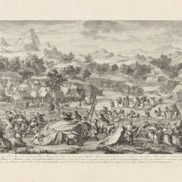 Isidore-Stanislaus-Henri Helman, 'AprŠs la retraite d'Amour-sana chez les Russes... (plate IX)', 1783