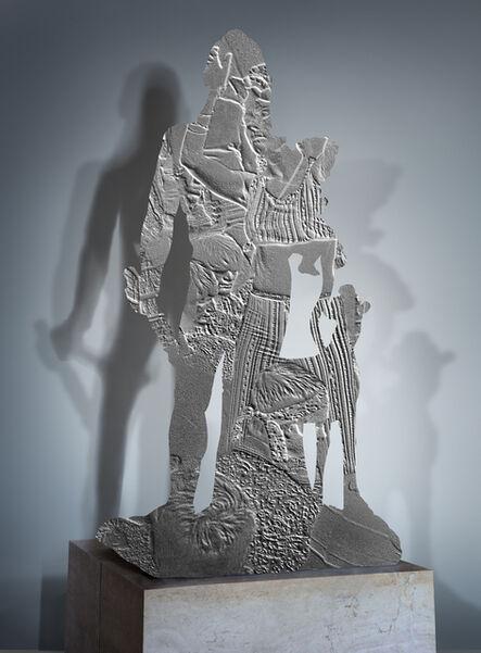 Brigitte Zieger, 'Counter memories 4 (Héraclès et Télèphe, 500 av. J-C, musée du Louvre / Hippies, 1967)', 2014