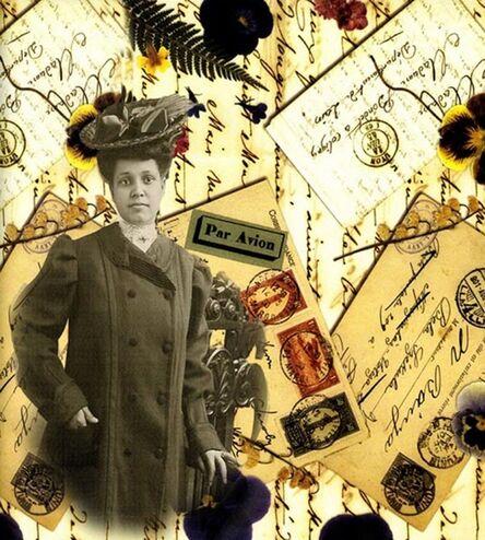 Gloria Kirk, 'Postcards and Pansies'