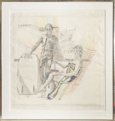 Larry Rivers, 'Summer Pregnancy Drawing', 1977