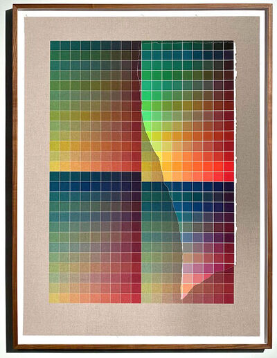 Analía Saban, 'Transcending Pigment from Paint to Canvas, from Canvas to Paint (Color #2) No. III', 2020