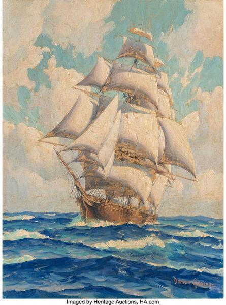 Joe Duncan Gleason, 'The California Clipper Ship - Young America'
