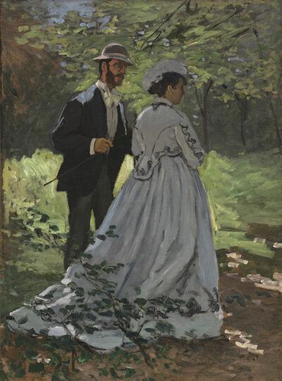"""Claude Monet, 'Bazille and Camille (Study for """"Déjeuner sur l'Herbe"""")', 1865"""