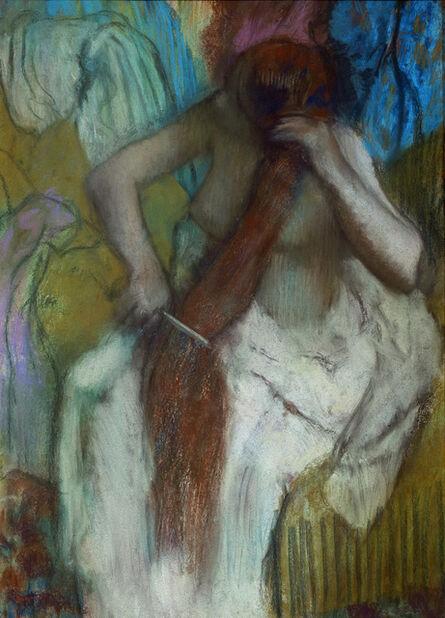 Edgar Degas, 'Femme se paignant  (Woman Combing Her Hair)', 1887-1890