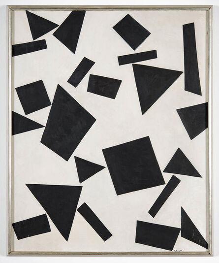 Nikolai Kasak, 'Black Angular Forms', 1944