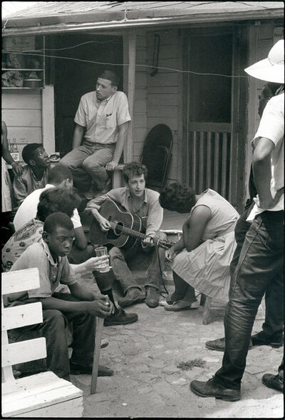 Danny Lyon, 'Bob Dylan behind the SNCC office, Greenwood, Mississippi ', 1963