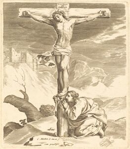 Claude Mellan, 'Christ on the Cross'