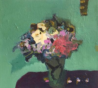 Jennifer Hornyak, 'White and Pink with Aqua Ground', 2017