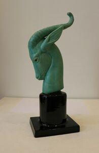 Paul Milet, 'Rare Head of Antilope, Sèvres China by Paul Milet, Art Deco, France', 1925-1930