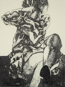 Ennio Calabria, 'A Figure and a Rabbit', 1980