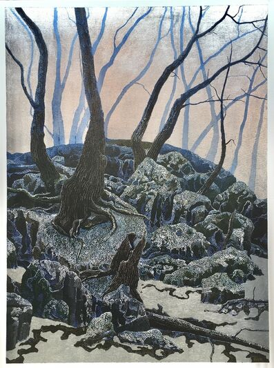 Miles Bair, 'Between Forest and Frozen Lake', 2021