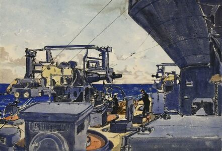 Claude Muncaster, ''HMS RODNEY IN THE MEDITERRANEAN''