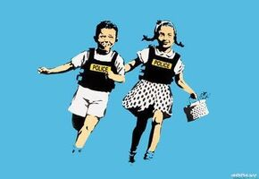 Banksy, 'Police Kids (Signed Screen Print)', 2005